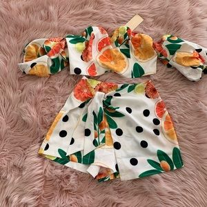 New Fruty polka dot Set